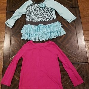 Girls long sleeve shirts- 3T & 4T